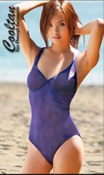 1PC Sea Salt Tanthrough Swimsuit